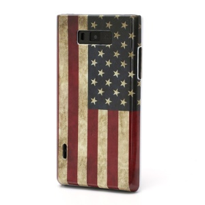 Hard Phone Case Case for LG Optimus L7 P700 P705 USA National Flag Pattern