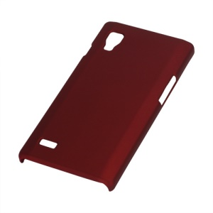 Rubberized Matte Hard Case for LG Optimus L9 P760 P765 P768 - Red