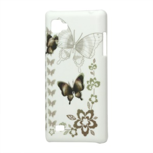 Butterflies Rubberized Hard Case for LG Optimus 4X HD P880