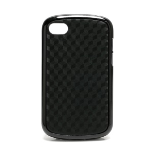 Cube Style TPU & Plastic Hybrid Cover Case for BlackBerry Q10 - Black