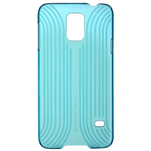 Baseus Seashell Line Style Series Plastic Cover for Samsung Galaxy S5 G900F - Transparent Cyan