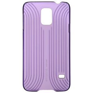 Baseus Seashell Line Style Series Plastic Cover for Samsung Galaxy S5 G900F - Transparent Purple