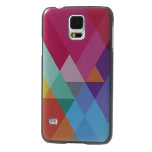 Slim Plastic Case for Samsung Galaxy S5 G900 Colorful Geometric Figure Design