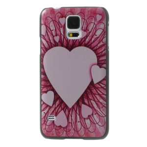 Pink Hearts Hard Shell Case for Samsung Galaxy GS 5 S5 G900