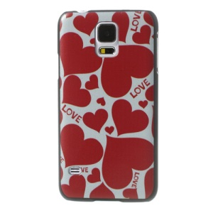 LOVE Red Hearts PC Back Case for Samsung Galaxy S5 G900 GS 5
