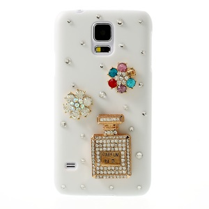 Diamond No5 Parfume White Plastic Case for Samsung Galaxy S5 G900