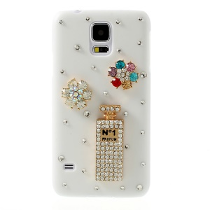Diamante No1 Perfume for Samsung Galaxy S5 G900 White Hard Back Case