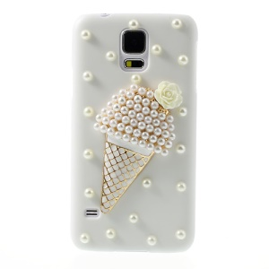 Pearl Ice Cream White Plastic Cover for Samsung Galaxy S5 G900 GS 5