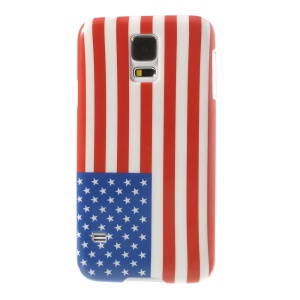 American National Flag Pattern Glossy Hard Case for Samsung Galaxy S5 G900
