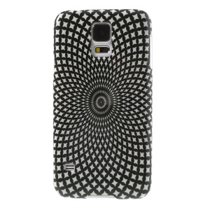 Geometric Flower Pattern Glossy Hard Cover for Samsung Galaxy S5 G900