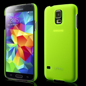 UMKU for Samsung Galaxy SV GS 5 G900 Translucent Matte Hard Cover - Green