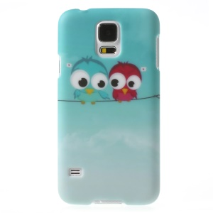 Two Birds Pattern PC Hard Phone Shell for Samsung Galaxy SV GS 5 G900