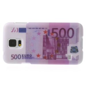 500 Euro Money Pattern Plastic Shell for Samsung Galaxy SV GS 5 G900