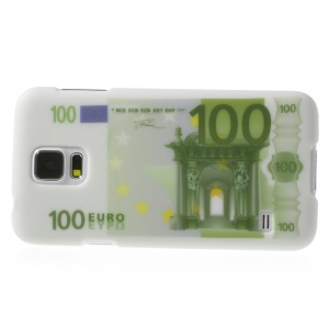 100 Euro Money Pattern Plastic Case for Samsung Galaxy SV GS 5 G900
