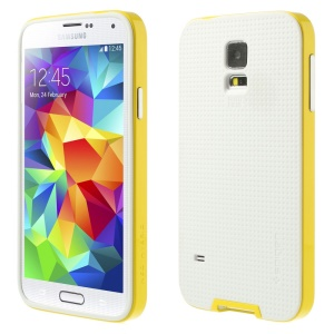 For Samsung Galaxy S5 G900 G900T SGP Neo Detachable PC Frame & TPU Hybrid Cover - White / Yellow