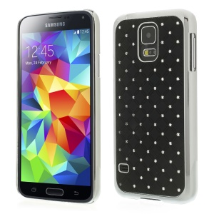Starry Sky Rhinestone Plating Hard Back Shell for Samsung Galaxy S5 G900 - Black