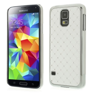 Starry Sky Rhinestone Plating Hard Back Case for Samsung Galaxy S5 G900F - White