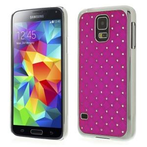 Starry Sky Rhinestone Plated Hard Plastic Case for Samsung Galaxy S5 G900H - Rose