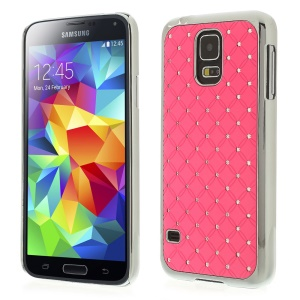 Starry Sky Rhinestone Plated Hard Phone Cover for Samsung Galaxy S5 G900H - Pink