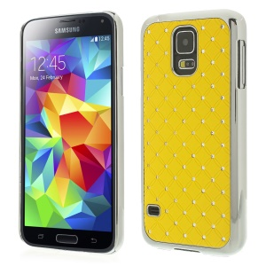 Starry Sky Rhinestone for Samsung Galaxy S5 G900I Electroplating Hard Case - Yellow