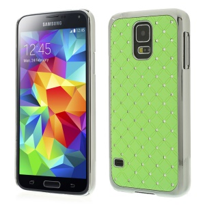 Starry Sky Rhinestone for Samsung Galaxy S5 G900I Electroplating Hard Shell - Green