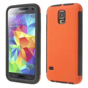 PC + TPU Combo Case for Samsung Galaxy SV G900 w/ Touchable Screen Protector - Orange