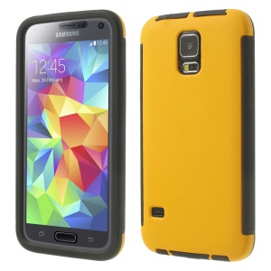 PC + TPU Combo Cover for Samsung Galaxy SV G900 w/ Touchable Screen Protector - Yellow