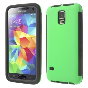 For Samsung Galaxy SV G900 PC + TPU Shield Case w/ Touchable Screen Protector - Green