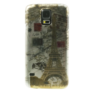Stereoscopic Effect Eiffel Tower & Map Hard PC Shell for Samsung Galaxy SV GS 5 G900