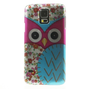 For Samsung Galaxy SV GS 5 G900 3D Effect Rose Owl & Plum Blossom Hard Phone Case