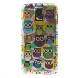 For Samsung Galaxy SV GS 5 G900 3D Effect Multiple Colored Owls Plastic Phone Shell