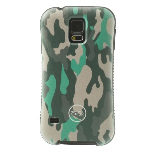 iFace Shellstyle Green Camouflage Pattern TPU + PC Hybrid Cover for Samsung Galaxy S5 G900