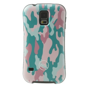 iFace Shellstyle Pink Camouflage Pattern TPU + PC Hybrid Case for Samsung Galaxy S5 G900