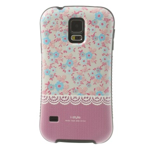 iFace i-style Rose Flowers TPU + PC Hard Cover Case for Samsung Galaxy S5 G900