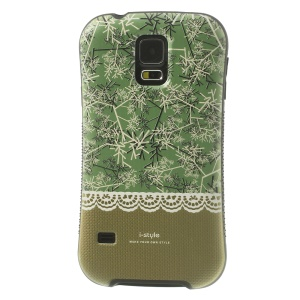 iFace i-style Green Snowflake TPU + PC Hard Back Case for Samsung Galaxy S5 G900