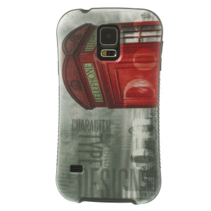 iFace Shellstyle Red Telephone Box TPU + PC Back Cover Case for Samsung Galaxy S5 G900
