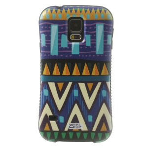 iFace Shellstyle Tribal Blue Triangle TPU + PC Back Shell for Samsung Galaxy S5 G900