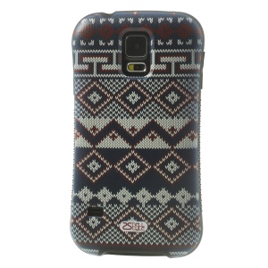 iFace Shellstyle Rhombus Sweater TPU + PC Back Shell Case for Samsung Galaxy S5 G900