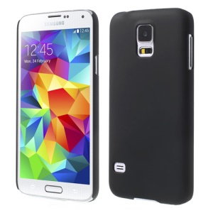 Black Rubberized Plastic Hard Case for Samsung Galaxy S5 G900 GS 5