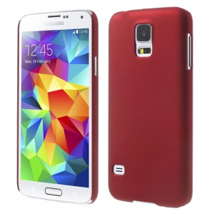 Red Rubberized PC Hard Back Case for Samsung Galaxy S5 G900 GS 5