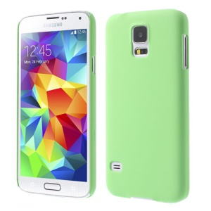 Green Rubberized PC Hard Shell for Samsung Galaxy S5 G900 GS 5