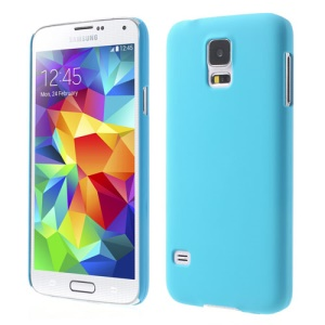 Light Blue Rubberized Hard Skin Case for Samsung Galaxy S5 G900 GS 5