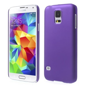 Purple Rubberized Hard Phone Case for Samsung Galaxy S5 G900 GS 5
