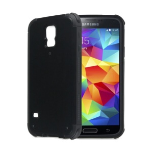 2-piece Plastic & TPU Armour Shield Case for Samsung Galaxy SV GS 5 G900 - Black