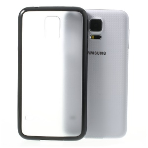 Matte PC Back + TPU Edges Hybrid Case for Samsung Galaxy S5 G900 - Black