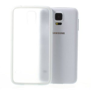 Matte PC Back + TPU Edges Hybrid Cover for Samsung Galaxy S5 G900 - White