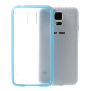 Matte PC Back + TPU Edges Combo Case for Samsung Galaxy S5 G900 - Blue