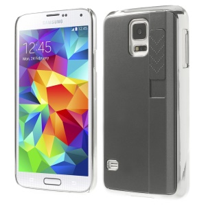 For Samsung Galaxy S5 G900 Plastic Hard Back Shell w/ Electric Lighter - Gray