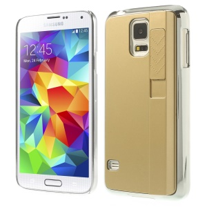 For Samsung Galaxy S5 G900 Plastic Hard Back Shell Cover w/ Electric Lighter - Champagne