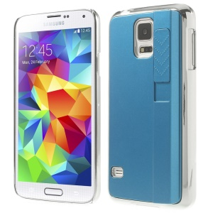 For Samsung Galaxy S5 G900 Plastic Hard Case Shell w/ Electric Lighter - Blue